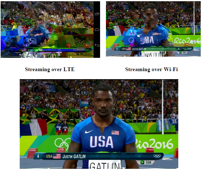 Figure 7:A Video streaming over LWIP